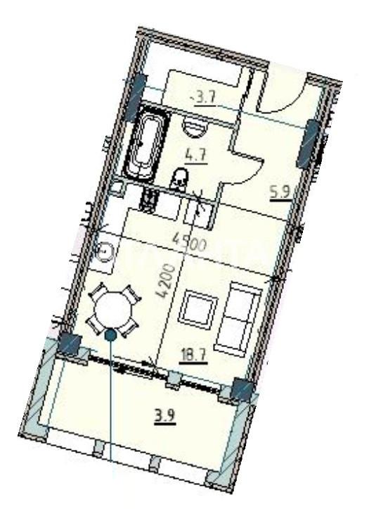 Продается 1-комнатная Квартира на ул. Каманина — 52 780 у.е.