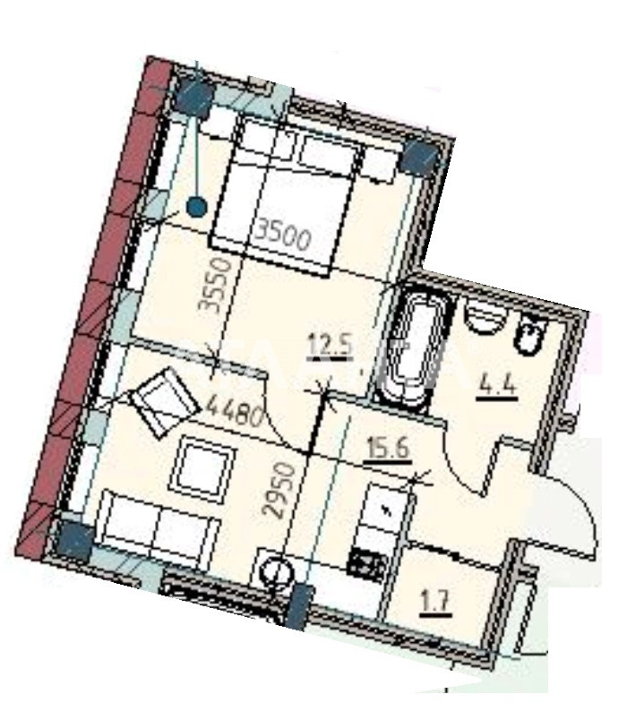 Продается 1-комнатная Квартира на ул. Каманина — 47 540 у.е. (фото №2)