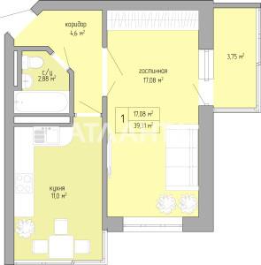 Продается 1-комнатная Квартира на ул. Ильфа И Петрова — 24 765 у.е. (фото №5)