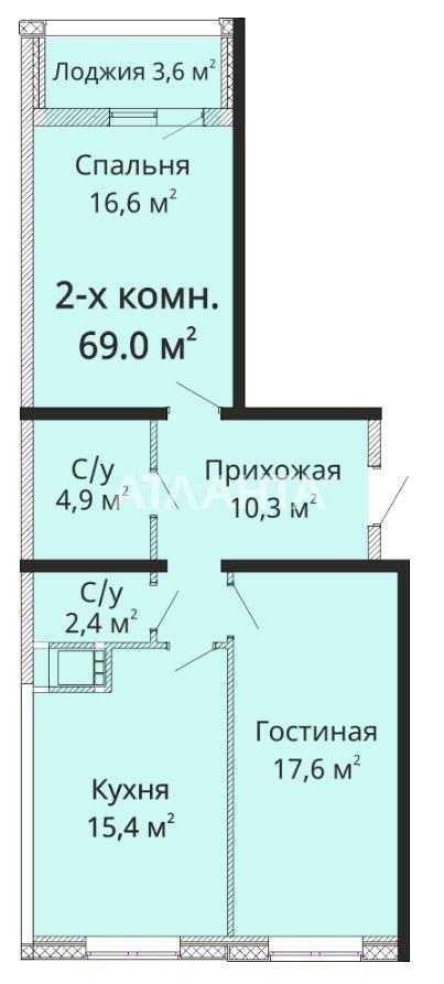 Продается 2-комнатная Квартира на ул. Михайловская (Индустриальная) — 58 740 у.е. (фото №3)