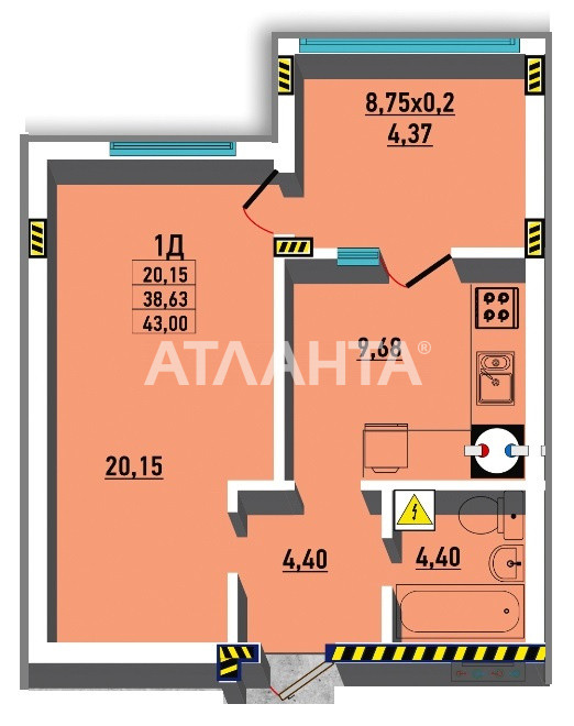 Продается 1-комнатная Квартира на ул. Гранитная — 30 000 у.е. (фото №2)