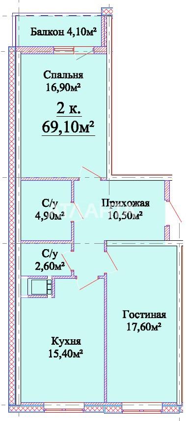 Продается 2-комнатная Квартира на ул. Михайловская (Индустриальная) — 58 740 у.е. (фото №2)