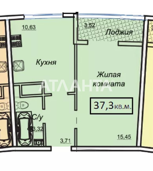 Продается 1-комнатная Квартира на ул. Генуэзская — 42 850 у.е. (фото №5)