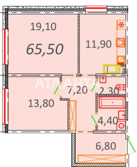 Продается 2-комнатная Квартира на ул. Пионерская (Варламова, Академическая) — 47 820 у.е.