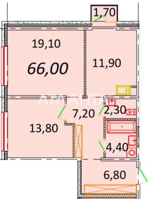 Продается 2-комнатная Квартира на ул. Пионерская (Варламова, Академическая) — 54 120 у.е.