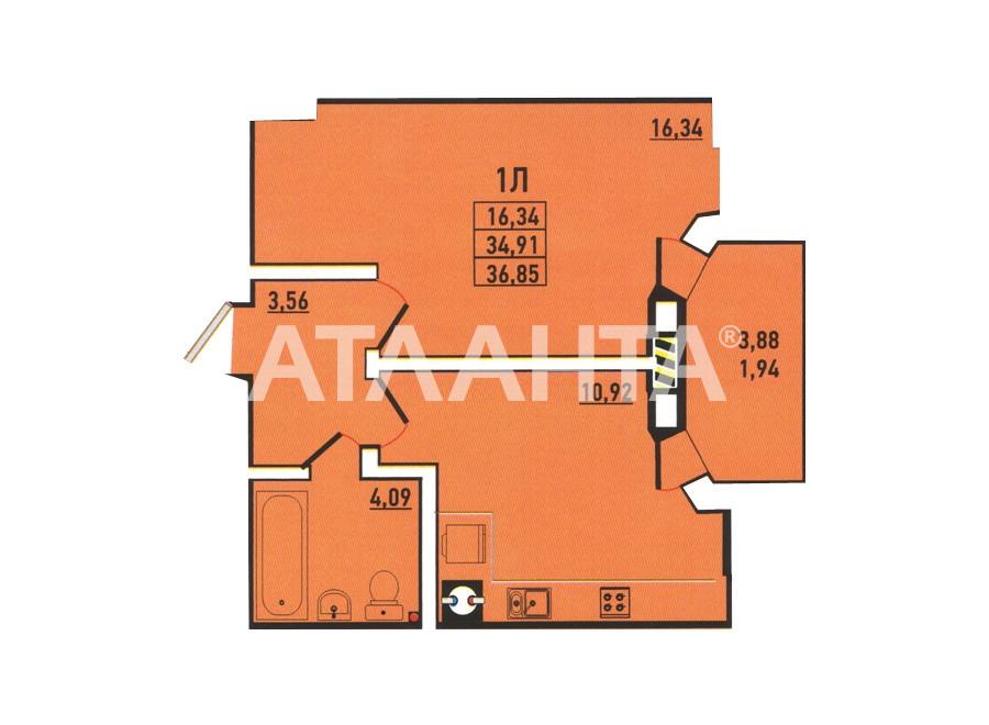Продается 1-комнатная Квартира на ул. Радужный М-Н — 37 000 у.е. (фото №9)