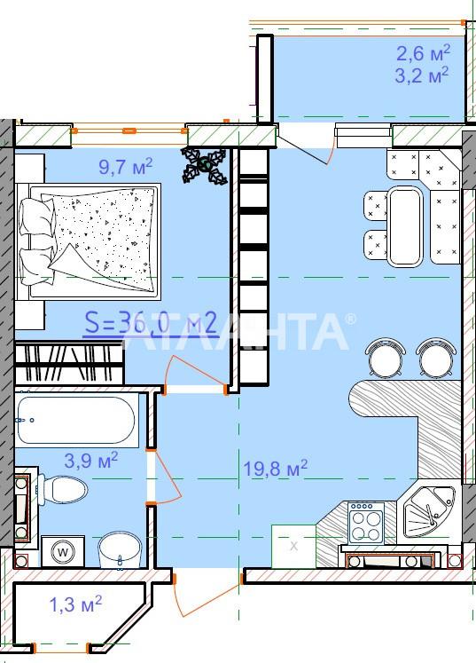 Продается 1-комнатная Квартира на ул. Вильямса Ак. — 24 200 у.е.