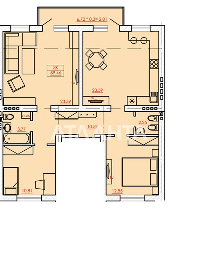 Продается 3-комнатная Квартира на ул. Сахарова — 67 000 у.е.