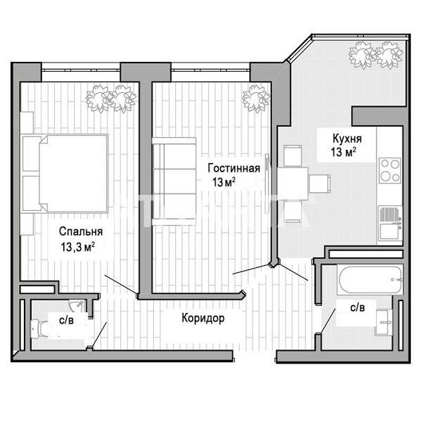 Продается 2-комнатная Квартира на ул. Ильфа И Петрова — 32 500 у.е. (фото №5)