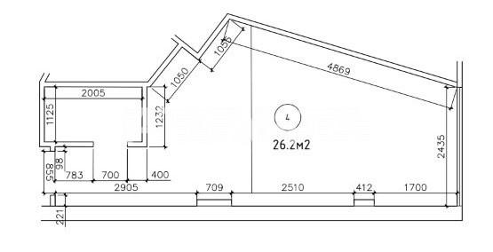 Продается 1-комнатная Квартира на ул. Гагаринское Плато — 26 000 у.е. (фото №2)