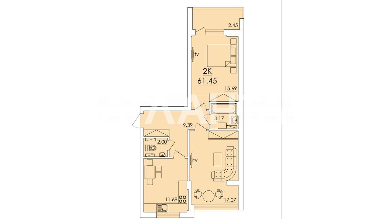 Продается 2-комнатная Квартира на ул. Сахарова — 38 000 у.е. (фото №14)