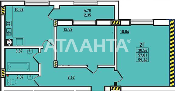 Продается 2-комнатная Квартира на ул. Радужный М-Н — 56 000 у.е. (фото №11)