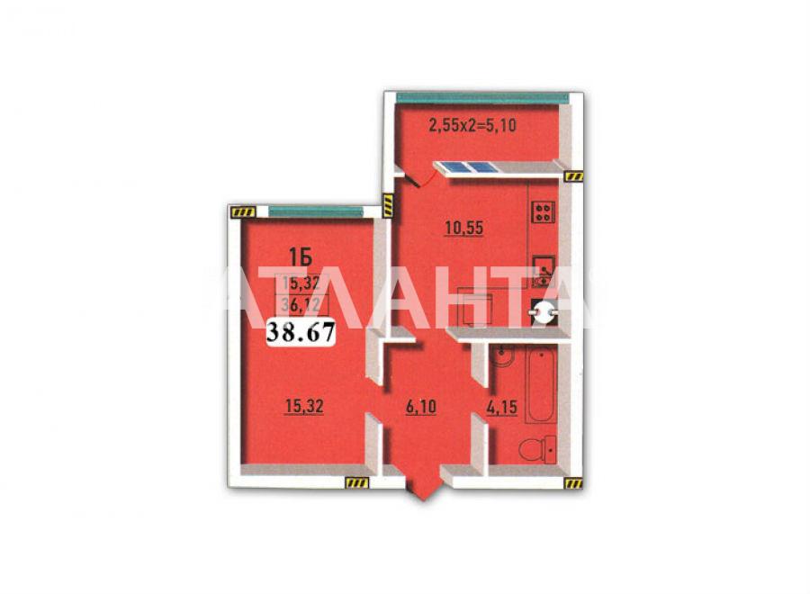Продается 1-комнатная Квартира на ул. Радужный М-Н — 34 500 у.е. (фото №17)