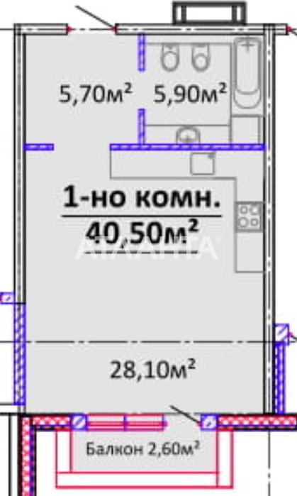 Продается 1-комнатная Квартира на ул. Гагарина Пр. — 38 475 у.е.