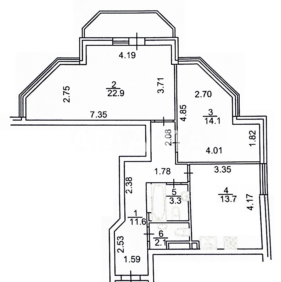 Продается 2-комнатная Квартира на ул. Ул. Вильямса — 94 000 у.е. (фото №16)