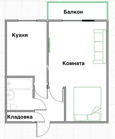 Продается 1-комнатная Квартира на ул. Днепроводская — 26 000 у.е. (фото №10)