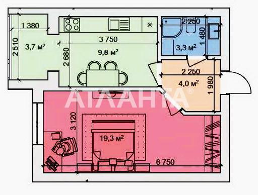 Продается 1-комнатная Квартира на ул. Пер. Московский — 62 000 у.е. (фото №11)