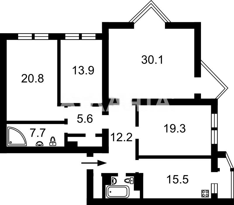 Продается 4-комнатная Квартира на ул. Всеволода Нестайко — 146 000 у.е. (фото №17)