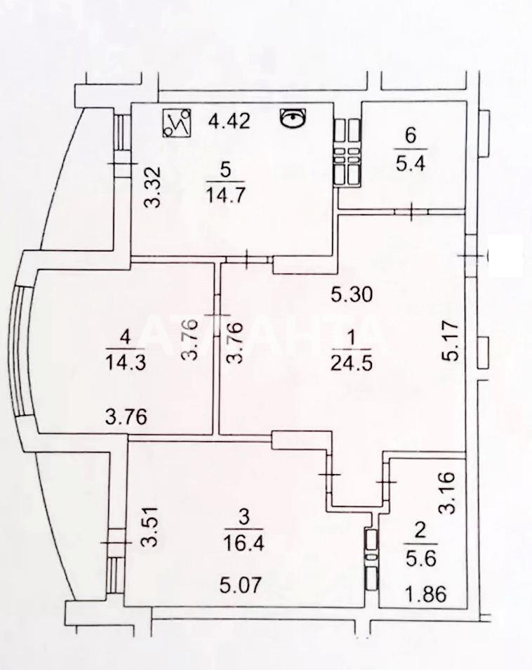 Продается 3-комнатная Квартира на ул. Михаила Максимовича — 120 000 у.е. (фото №9)