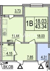 Продается 1-комнатная Квартира на ул. Ул. Ломоносова  — 45 500 у.е. (фото №2)