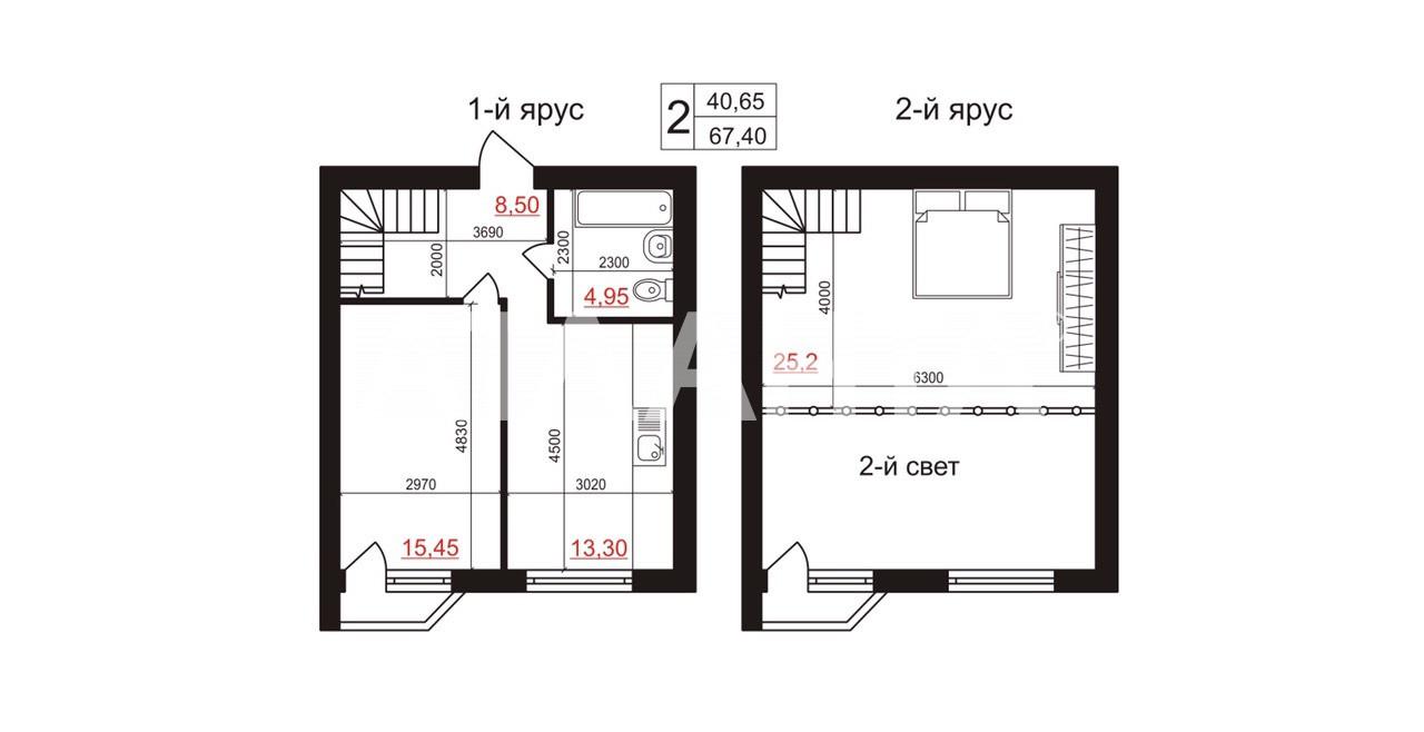 Продается Многоуровневая Квартира на ул. Валовня — 38 000 у.е. (фото №2)