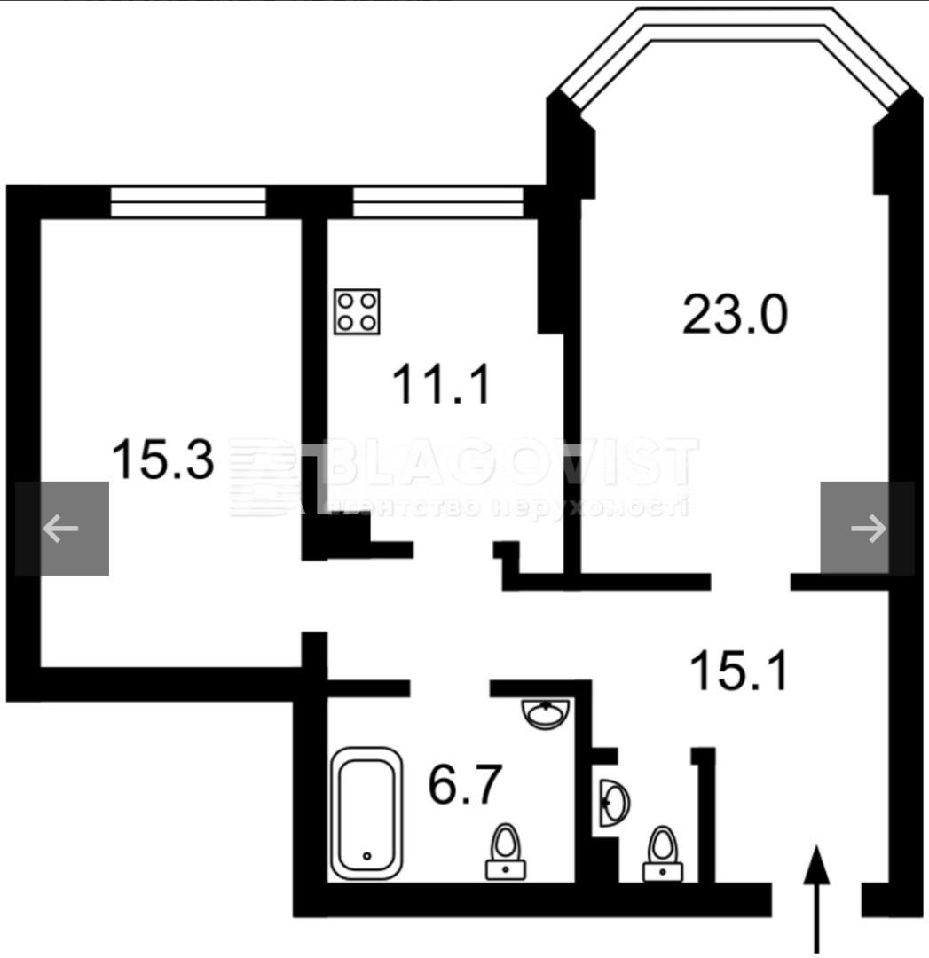 Продается 2-комнатная Квартира на ул. Верховинная  — 57 500 у.е. (фото №6)