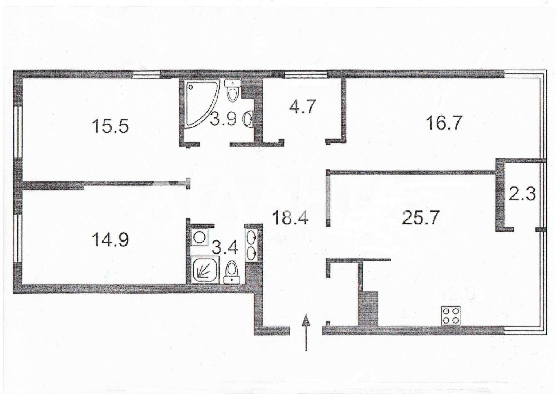 Продается 4-комнатная Квартира на ул. Ул. Богатырская — 175 000 у.е. (фото №3)