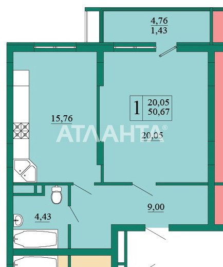 Продается 1-комнатная Квартира на ул. Ломоносова — 65 000 у.е. (фото №11)