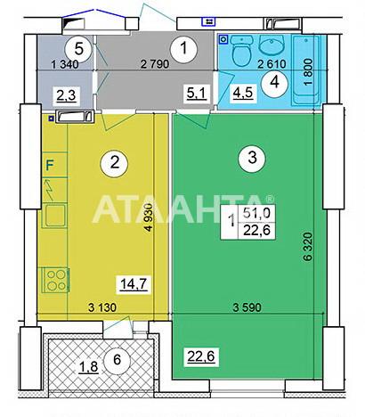 Продается 2-комнатная Квартира на ул. Теремковская — 85 000 у.е. (фото №15)