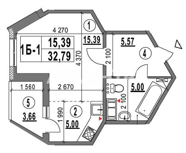 Продается 1-комнатная Квартира на ул. Ул. Ломоносова  — 32 900 у.е. (фото №3)