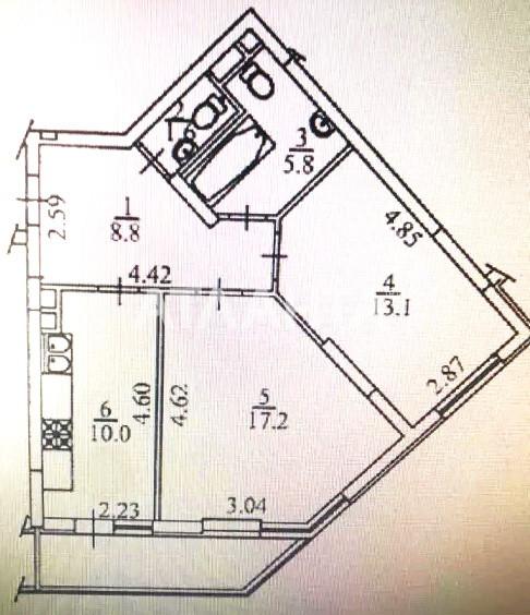 Продается 2-комнатная Квартира на ул. Ломоносова — 65 000 у.е. (фото №3)