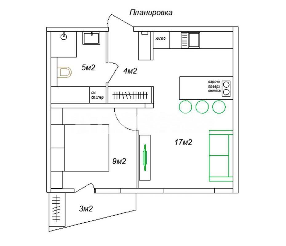 Продается 2-комнатная Квартира на ул. Стеценко  — 49 900 у.е. (фото №16)