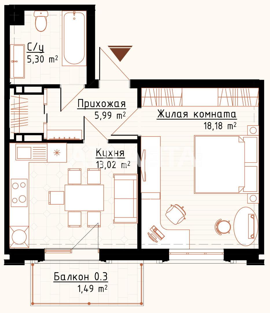 Продается 1-комнатная Квартира на ул. Ул. Максимовича (Онуфрия Трутенко) — 80 000 у.е. (фото №14)