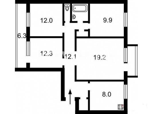 Продается 4-комнатная Квартира на ул. Ул. Феодосийская — 64 000 у.е. (фото №11)