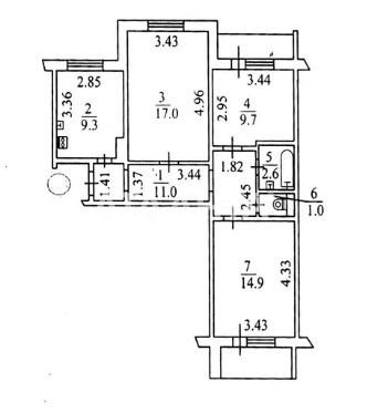 Продается 3-комнатная Квартира на ул. Пр. Академика Глушкова — 54 000 у.е. (фото №10)