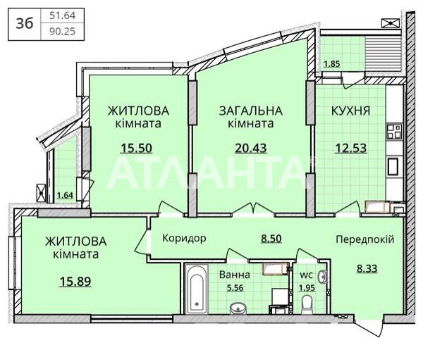 Продается 3-комнатная Квартира на ул. Оболонский Проспект — 130 000 у.е. (фото №2)