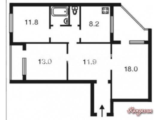 Продается 3-комнатная Квартира на ул. Ул. Бальзака — 45 000 у.е. (фото №10)