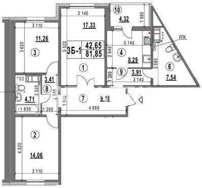 Продается 3-комнатная Квартира на ул. Конева — 65 500 у.е. (фото №2)