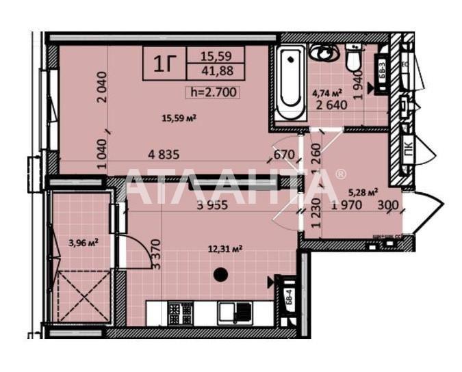 Продается 1-комнатная Квартира на ул. Ул. Заболотного — 39 500 у.е. (фото №8)