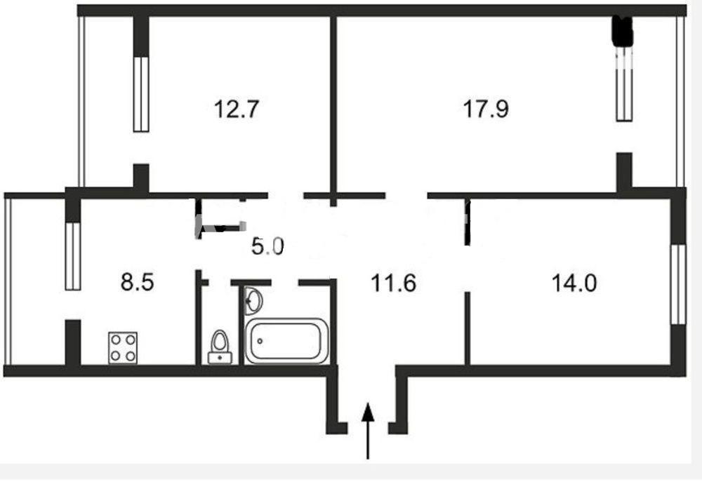 Продается 3-комнатная Квартира на ул. Ул. Хорольская — 50 000 у.е. (фото №9)