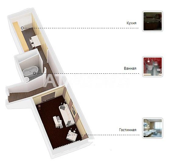 Продается 1-комнатная Квартира на ул. Просп. Героев Сталинграда — 82 000 у.е. (фото №5)