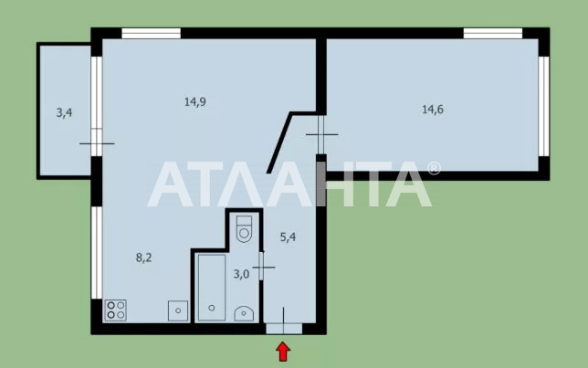 Продается 2-комнатная Квартира на ул. Ул. Пражская — 44 000 у.е. (фото №8)