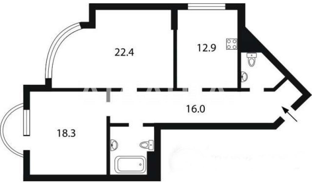 Продается 2-комнатная Квартира на ул. Ул. Ломоносова — 80 000 у.е. (фото №12)