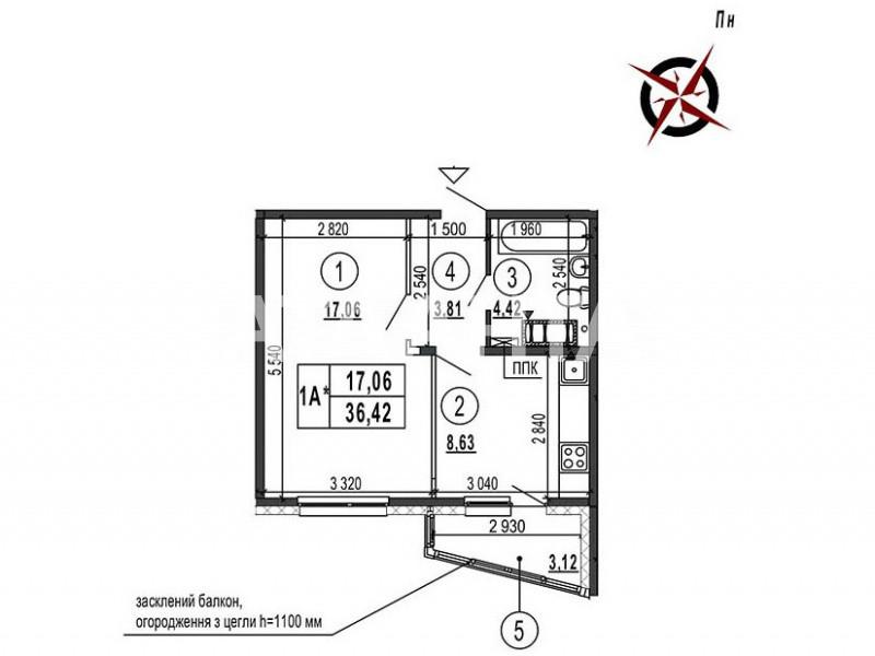 Продается 1-комнатная Квартира на ул. Просп. Глушкова — 32 500 000 у.е. (фото №3)