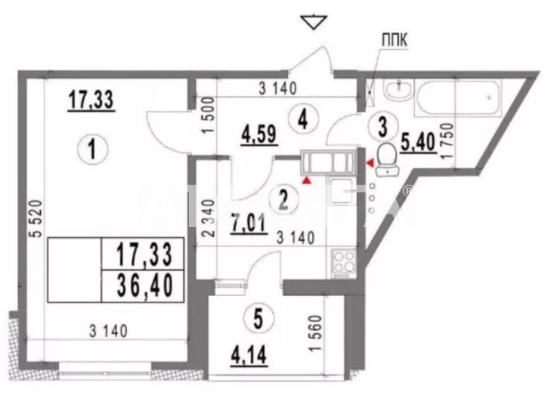 Продается 1-комнатная Квартира на ул. Конева — 58 000 у.е. (фото №2)